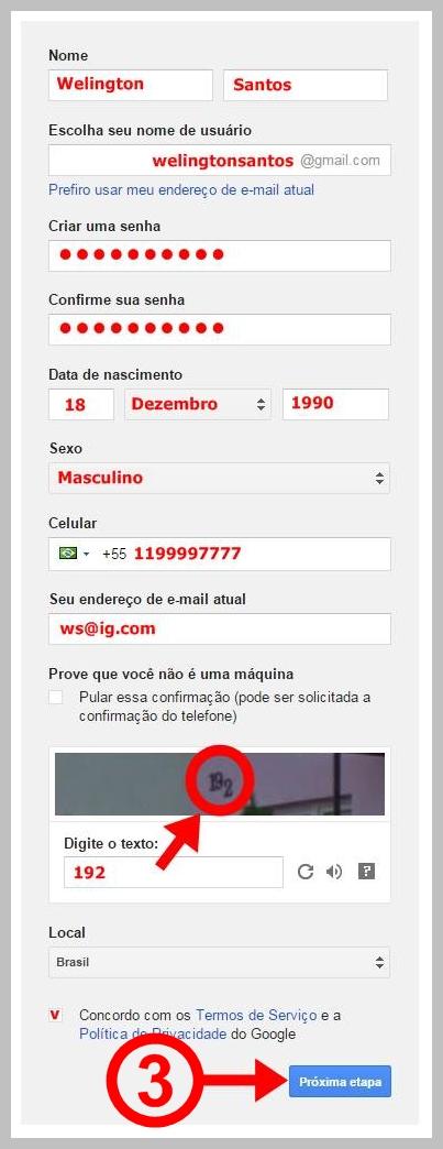 92774181d 3 PASSOS DE COMO CRIAR UMA CONTA NO GOOGLE