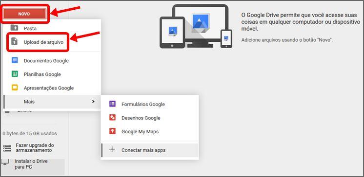 Fazendo Upload Arquivo Google Drive