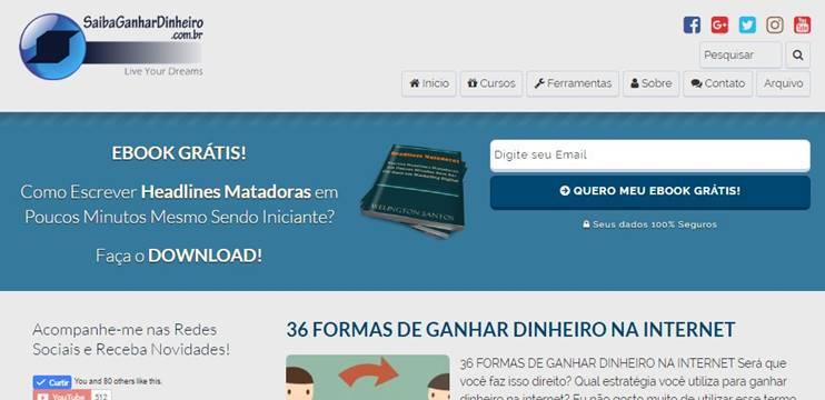Ganhar Dinheiro Internet Afiliado Blog