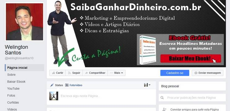 Ganhar Dinheiro Internet Afiliado Página Facebook